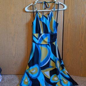 Wet seal printed halter dress